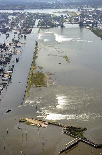 New Orleans Levee Befor Ekatrina